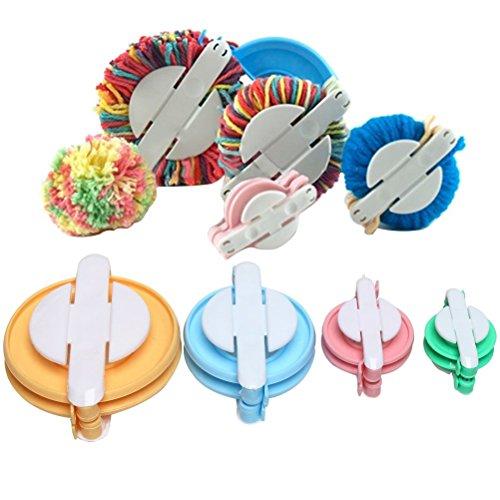4Größen Pompon Pom Pom Maker für Fluff Ball Weaver Nadel Handwerk DIY Wolle stricken Handwerk Werkzeug Set Dekoration