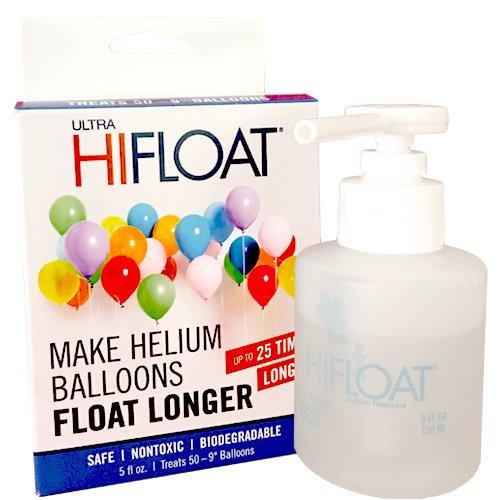 Preisvergleich Produktbild Schwebezeitverlängerer Hi-Float für Latexballons Gummiballons Heliumballons Luftballons Helium 150ml Gel für ca. 30-50 Ballons