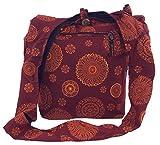 Guru-Shop Sadhu Bag, Goa Tasche, Schulterbeutel - Rot, Herren/Damen, Baumwolle, Size:One Size,...