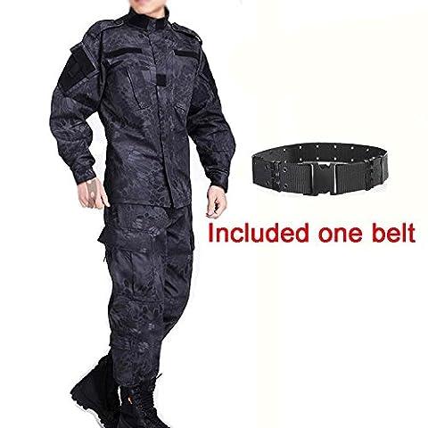 Hommes Tactique EDR Combat Uniforme Veste Chemise & Pantalons Costume Typhon Kryptek pour Armée Militaire Airsoft Paintball Chasse Tournage Guerre Jeu (M) (XL)