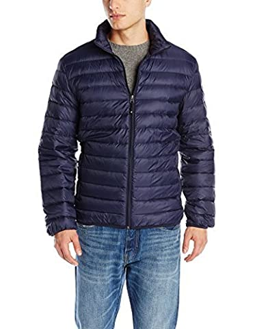 32Degrees Weatherproof Men's Packable Down Puffer Jacket, Navy, Large by Weatherproof Garment Company Men's Outerwear