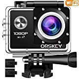ORSKEY Action Camera 1080P Wifi Underwater Cam Full HD 12MP Sports Camera Waterproof