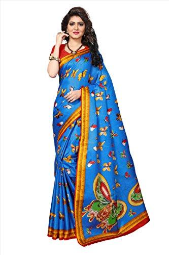 Indian Fashionista Women's Khadi Jute Silk Saree with Blouse Piece (Big Border...