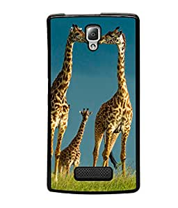 printtech Giraffe Africa Jungle Back Case Cover for Lenovo A2010