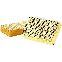 Anself - Set de baraja poker de plástico en oro (54 piezas)
