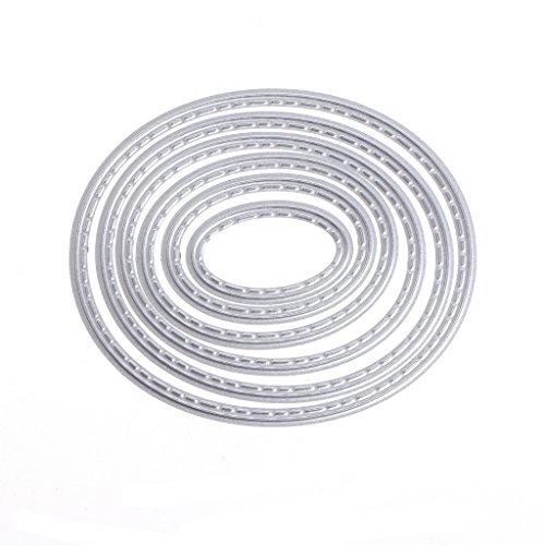 Yyooo-UK Ovale Metallstanzformen, Schablonen für Bastelarbeiten, Scrapbooking, Album, Papier, Karten, Prägen