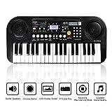 Zmoon Klavier für Kinder, 37 Tasten Klaviere Keyboards Multi-Funktion elektronische Orgel für Kinder und Anfänger (Schwarz)