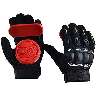 JWBOSS Gemütlich Protektor Armschutz Skateboard Handschuhe Downhill Freeride Slide Dickere Foam Sliding Schutz Palm Gemü