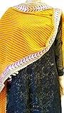 #3: Krisha Ethnic Traditional Leheriya Gota Border Dupatta