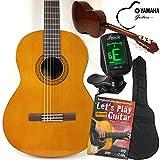 Yamaha C40 Clásica / Guitarra Clásica Principiantes Set con, sfq24 LED sintonizador de pantalla, método de guitarra con DVD, Funda, correa y recoge 3x. La guitarra para principiantes ideal, con todo lo necesario
