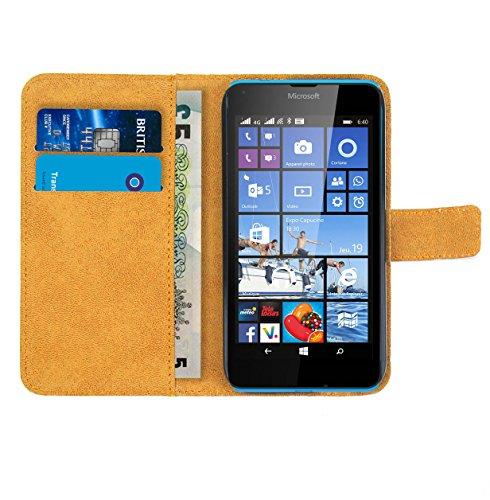Microsoft Lumia 640 Dual SIM Handy Schützhülle Leder - 4