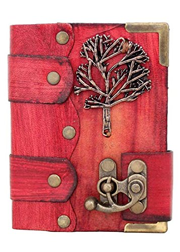 winter-tree-of-life-on-a-red-leather-journal-with-c-lock-diary-sketchbook-leatherbound-notebook-pock