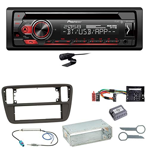 schwarz caraudio24 Pioneer DEH-S410BT MP3 CD USB AUX Bluetooth Autoradio f/ür Ford Ka bis 2008