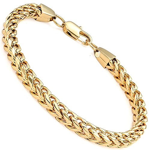 a5c9778d36c High Quality Stainless Steel 6MM Gold Wide Curb Chain High polished ...