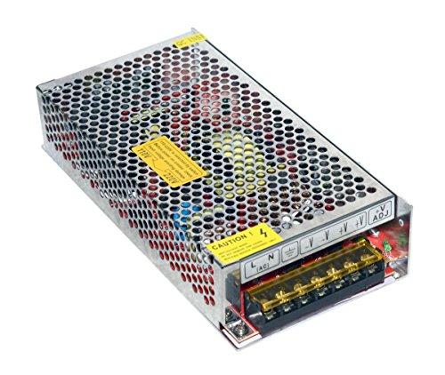Preisvergleich Produktbild Transformator für LED-Leuchtstreifen, geregeltes Netzteil, 220V, 12V, 10A, 120W