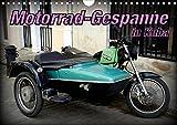 Motorrad-Gespanne in Kuba (Wandkalender 2020 DIN A4 quer): Motorrad-Oldtimer mit Beiwagen in Kuba...