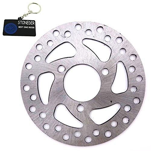 STONEDER Bremsscheiben-Rotor aus Stahl, 35 mm/120 mm, für 2-Takt-47 cc/49 cc Gas-/Elektrik-Scooter für Kinder, Pocket Bike, Vierräder, ATV-Quad, Mini-Dirtbike (Gas Vier Wheeler)