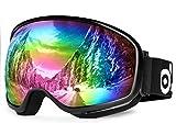 Odoland UV400 Schutz Snowboardbrille für die Jugendliche 8-16 Jahre