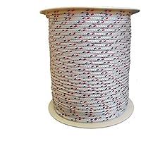 4mm – 100m Polyesterseil – Grundfarbe weiß mit Kennung rot / blau auf Rolle von Hummelt®