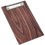 Kaltner Präsente Klemmbrett Holz Nussbaum beschichtet ideal auch als Speisekarte oder Tageskarte für A5 Blätter (Abmessung 23 x 16 x 0,5 cm)