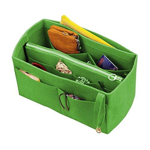 [Passt verschiedene Taschen, L.V. Her.mes Long.champ Go.yard] Filz Tote Organizer (w/abnehmbare Reißverschluss-Tasche), Geldbörse einfügen, Kosmetik-Make-up-Windel-Handtasche, Taschen
