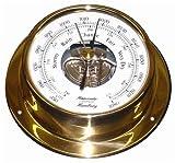 Schiffs Barometer 110 mm Messing leicht