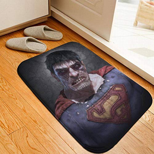 Ibuprofen Tapis De Flanelle Créatif Light Horror Halloween Citrouille Batte Sorcière Tapis D'Halloween, Horreur Superman, 40 * 60CM (15.7 * 23.6inch)