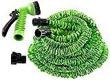 Zeyu 50 Ft Expandable Hose Pipe Nozzle for Garden Wash Car Bike