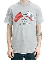 Primitive Frontier T-Shirt Athletic Heather Grey Mens Tee