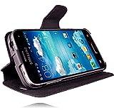 Original Akira Handmade PREMIUM Echtleder Wallet Case für Samsung Galaxy S5 Mini SM-G800F Schwarz