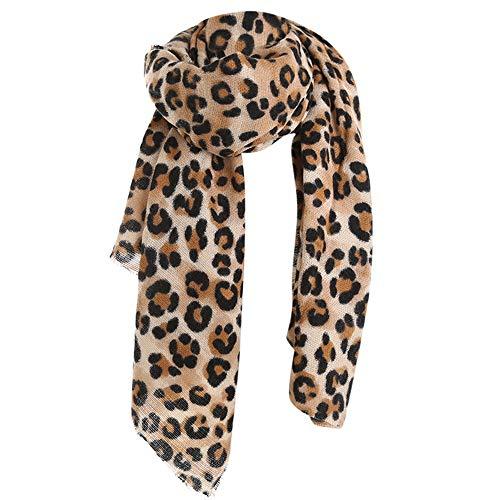 DOGZI Mujer bufanda,Otoño invierno Estampado leopardo