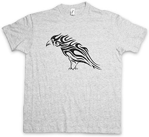Urban Backwoods Tribal Raven T-Shirt - Taglie S - 5XL Ash