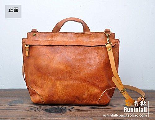 Vintage Original cuir sacs à main en bandoulière Light brown
