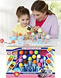 22 Piece Large Ice Cream Parlour Play Food Shop Set Playset With Cones & Stand