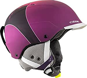 Cébé Contest Visor Pro Casque de ski, Contest Visor Pro Skihelm, pink mountain, 53-57cm