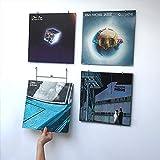 Vinyl Waller Geschenkidee Musik – Bilderrahmen Schallplatten 33 Umdrehungen – Wanddekoration für Musiker – Dekoration für Schlafzimmer oder Wohnzimmer mit Schallplatten