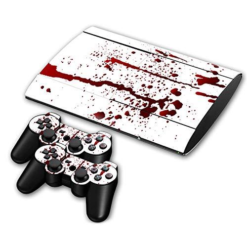 Bloddy Skin für PS3 Slim 4000 Playstation Konsole und 2 Controller