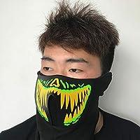 Mascara Halloween Demonio, Zolimx LED Luz Fría Máscara Música Control Sonido Luz Fría Luminosa Máscara