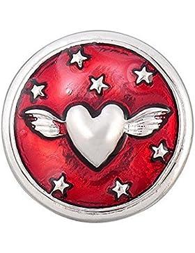 Andante CHUNK Click-Button Druckknopf (Herz) für Chunk-Armbänder, Chunk-Ringe und andere Chunk-Accessoires