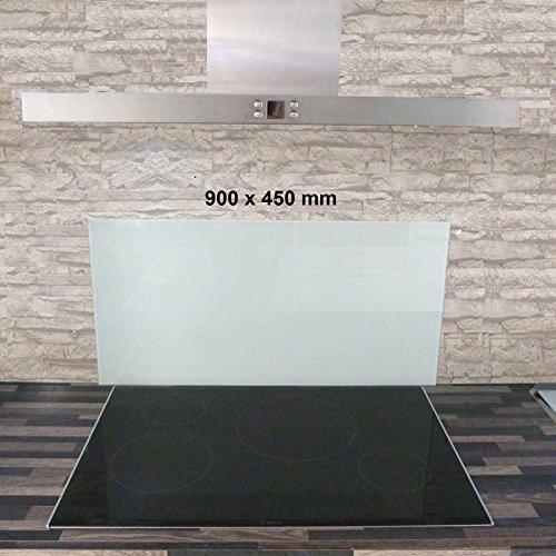 Glasrückwand Spritzschutz Glas Küchenrückwand weiß Glasfarbe 900x450mm