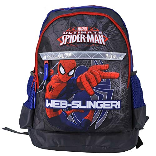 Kinder Rucksack 42x29x17 cm - Marvel Ultimate Spider-Man Collection - GRAU/Bla