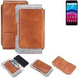K-S-Trade Gürteltasche für Archos Core 57S Gürtel Tasche Schutz Hülle Hüfttasche Belt Case Schutzhülle Handy Hülle Smartphone Sleeve aus Filz + Kunstleder (1 St.)