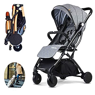 Yavso Baby Strollers Lightweight Travel Buggy with One Hand Fold Baby Carriage, One Step Design for Opening and Folding, from Birth to 25 kg