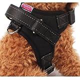 Gililai einstellbar Nein Pull Hundehalsband Harness - Beste für Spazierengehen , Wandern & Training Kanu - 3 Farben und 4 Größen(S,Schwarz) … (S, Schwarz)