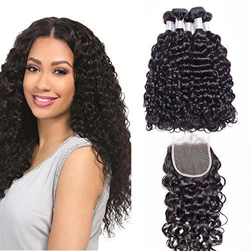 Maxine Haarverlängerung, 18 20 22 + 16closure, schwarz/braun