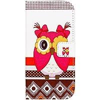 delightable24 Cover Protettiva Bookstyle Flip Case per HTC ONE M8 / M8S Smartphone - Owl Red Edition