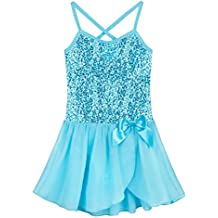 Freebily Maillot Ballet Vestido Danza Tutú Vestido Elegante Brillante de Princesa con Braguita Interior para Niña