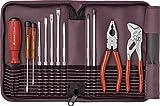 PB Swiss Tools Werkzeug-Set 12-tlg. Inkl. Rolltasche, Schraubendreher, Knipex Zangen, 100% Swiss Made, Lebenslange Garantie, Rot
