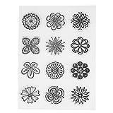 Amazingdeal365 Briefmarke Transparente Silikonstempel Set Text - Clear Stamps - Stempel -Mit Vielfalt-teilig - Schneiden Schablonen (18)