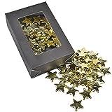 Sterne 30er Box Streudeko Kunststoff 20mm gold Tischdeko Bastel Kreativ